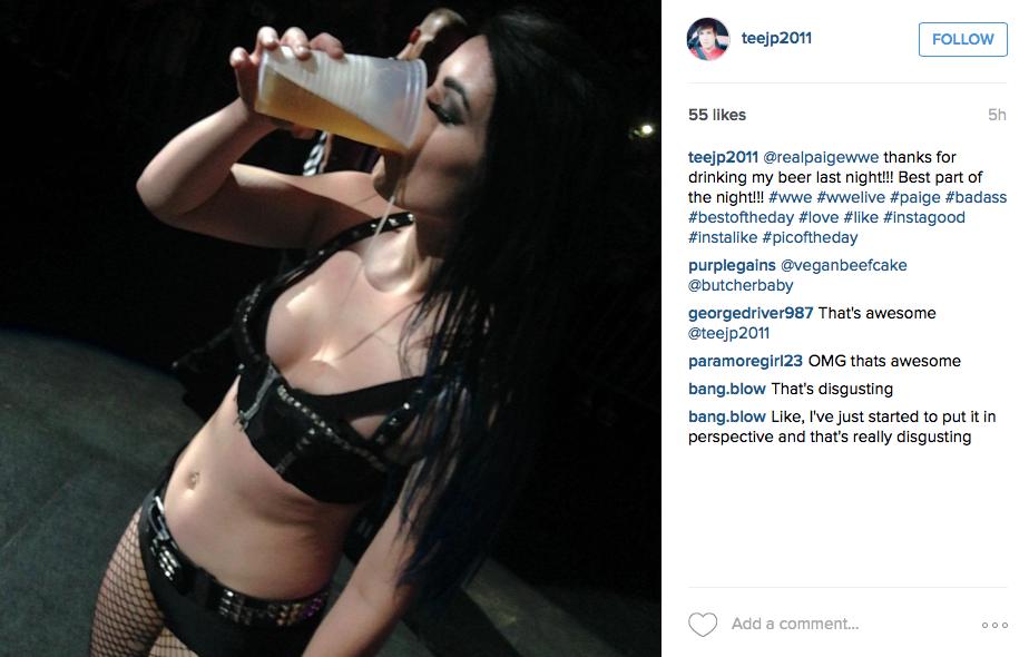 Wwe Paige Blowjob photo 23