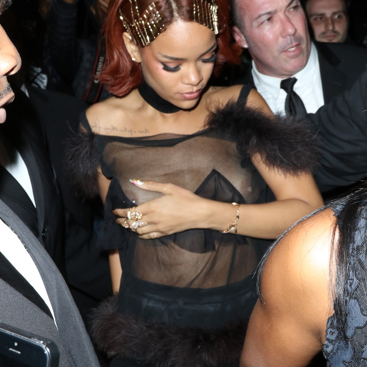 Rihanna Boob Slip photo 2