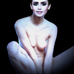 Lilly Collins Topless photo 23