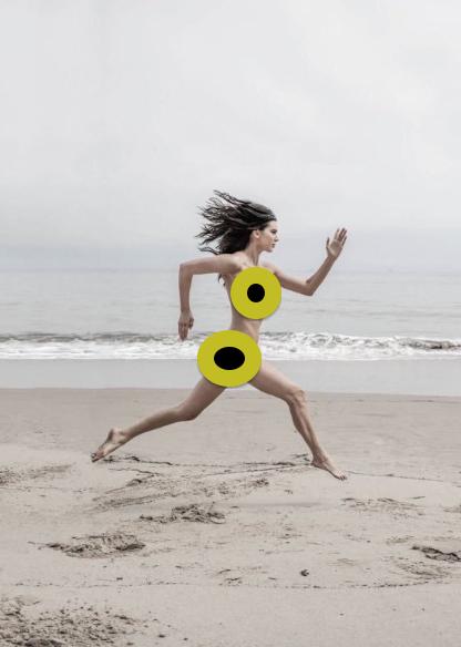 Kendall Jenner Nude Beach Run photo 4