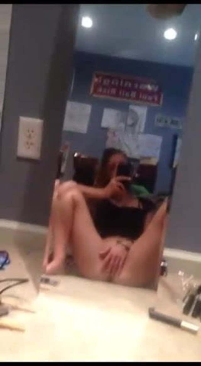 Masturbating In The Mirror photo 23