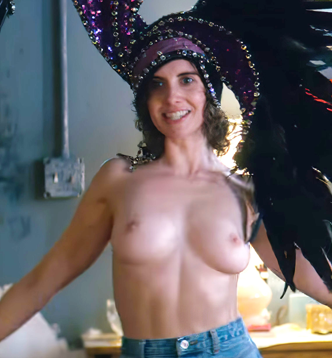 Alison Brie Topless In Glow photo 5