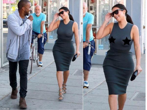 Kim Kardashian Braless Pics photo 22