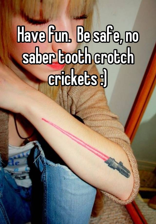 Saber Tooth Crotch Crickets photo 2